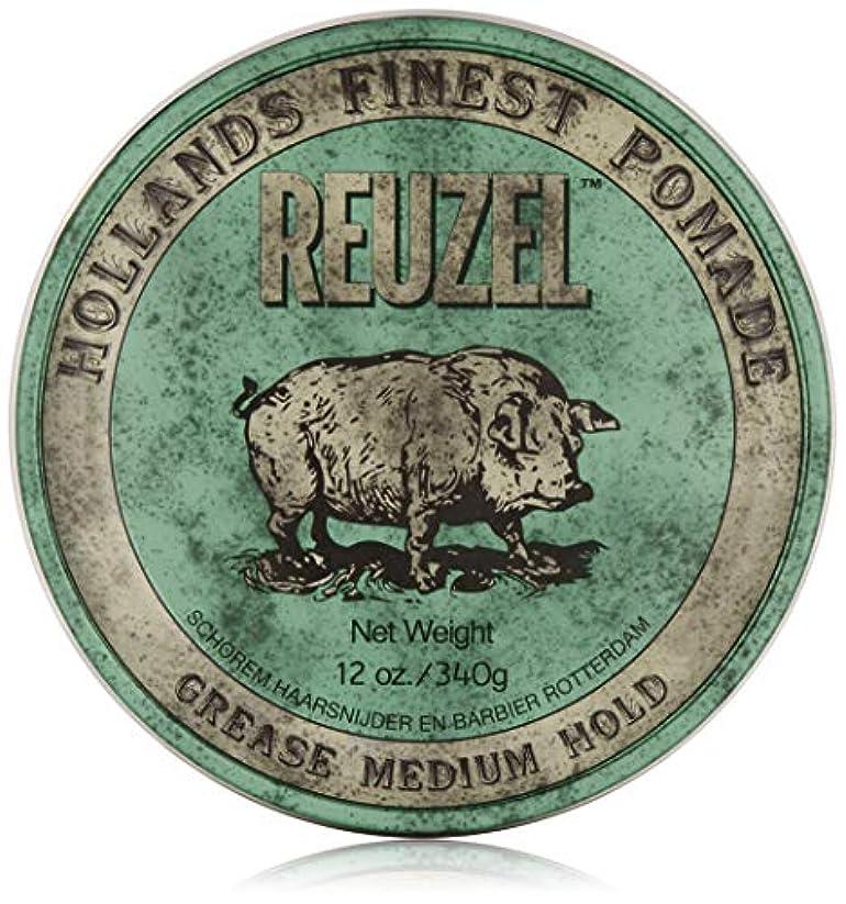 噴火リムそうREUZEL Grease Medium Hold Pomade Hog, Green, 12 oz. by REUZEL