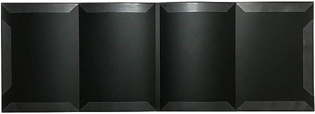 AW-Net 書き込みできる 4面 楽譜ファイル A4サイズ 楽譜台紙 五線譜 見開き ピアノ 吹奏楽 (BLACK)