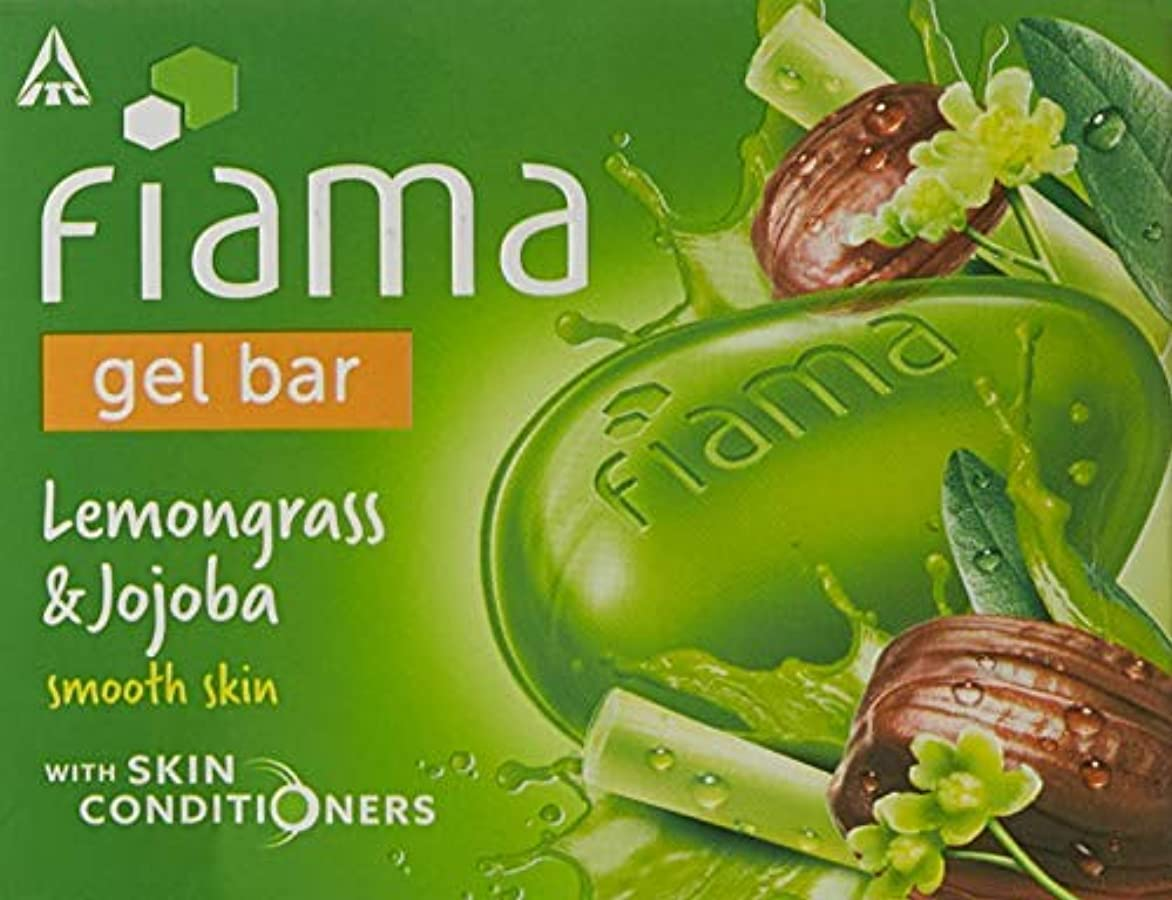 スカイ陸軍背の高いFiama Di Wills Lemongrass & Jojoba Gel Bar, 125g (Pack Of 3)