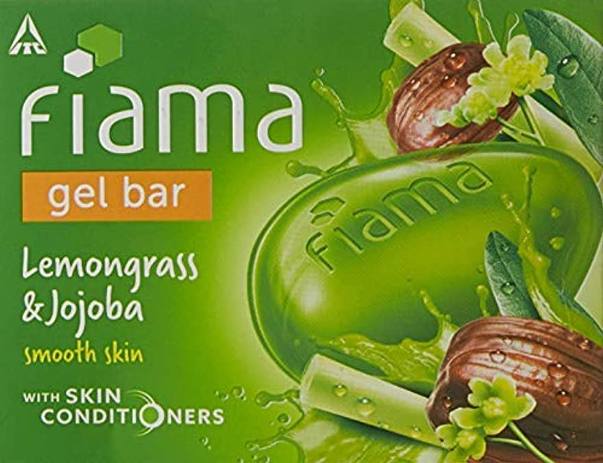 アミューズちらつき圧縮するFiama Di Wills Lemongrass & Jojoba Gel Bar, 125g (Pack Of 3)