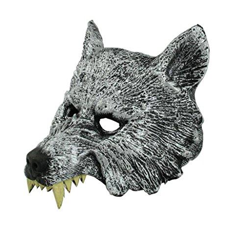usstore Halloween Creepy Wolfラテックスマスクコスプレ動物ハロウィンパーティーファンシーボールヘッドマスク Usstore