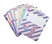ZERONOWA 英国風 レターセット 封筒 便箋 セット (8種類)