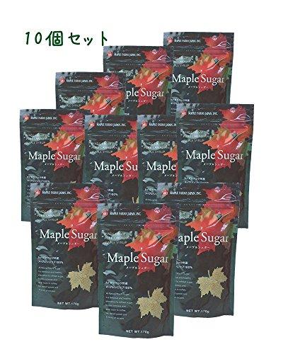 メープルシュガー さらさらメープルシロップ100%顆粒 170g ≪お得セット/メール便≫ (10個セット)
