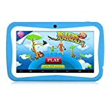 HD 7 Inch Kids Edition Tablet Hipo Android 4.4 Kids Pad Tablet With Wifi and Dual Camera 512MB/8GB Quad Core Pre-installed Kids APPS IPS Display Touch Screen Kids-proof Silicone Case With Stand-Blue [並行輸入品]