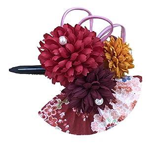[粋花] Suika 和柄髪飾り 5139 赤