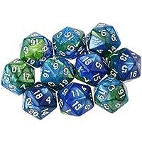 Baosity 10個 20面 ダイス サイコロ MTG RPGゲーム用 小道具 全7選択 - #5