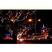 家や店舗の装飾に!! ソーラー LED 100灯 10m 選べる6色!! クリスマス イルミネーション (ホワイト)
