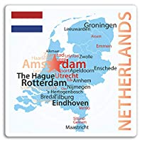 2×10センチメートルオランダ地図ビニールステッカー - 旅行ステッカーノートパソコンの荷物の#17216(10センチメートルトール)