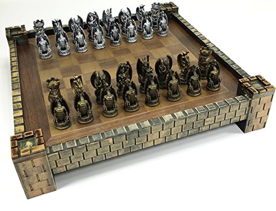 Dragon Fantasy Gothic Medieval Times Chess Set W Castle Board 17