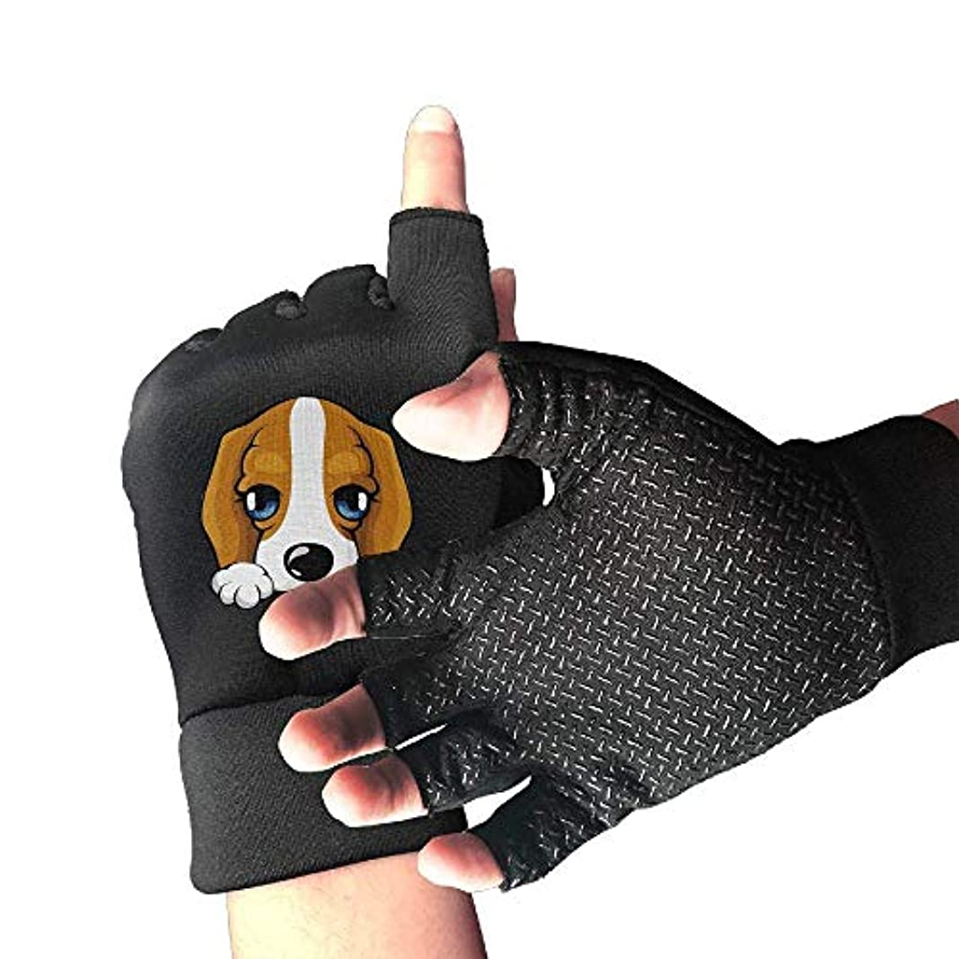 反論改修ペリスコープCycling Gloves Dog Baby with Blue Eyes Men's/Women's Mountain Bike Gloves Half Finger Anti-Slip Motorcycle Gloves