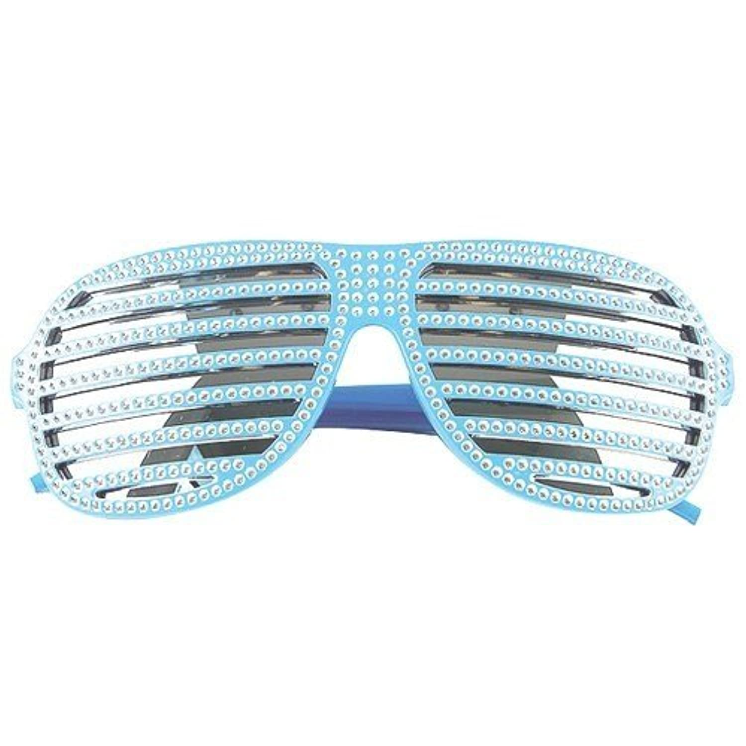 Fun Party Toy - Luxury Shutter Sunglasses (Blue)