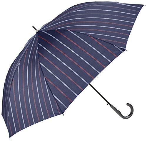 (ムーンバット) MOONBAT (ミズノ) MIZUNO 紳士ジャンプ式長傘(少し大きめ親骨70cm) 耐風傘2カラーストライプ