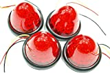 選べる5色 LED 16 発 サイド バス マーカー ライト ランプ 【ADVANTAGE】 トラック 24V 12V 車 に (c . レッド4個)