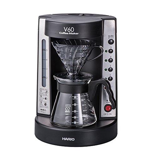 ハリオ 珈琲王 コーヒーメーカー V60 透明ブラック EVC...