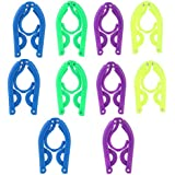 ROSENICE Portable Travel Folding Plastic Clothes Coat Hangers Racks 10pcs(Random Color)