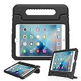 アウトドア用品 iPad Mini4 ケース EVA素材 LEFON 子供用 最軽量 耐衝撃 超耐久性 Apple iPad mini 4 専用カバー ハンドル付き スタンド機能 アイパッドミニ4 ケース 全7色(For Apple iPad Mini 4(2015)ブラック)