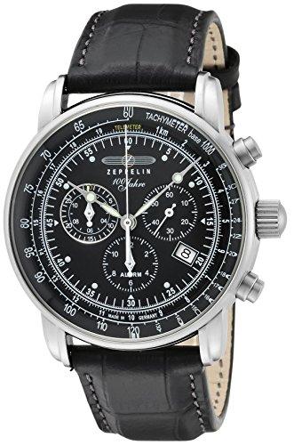 [ツェッペリン]ZEPPELIN 腕時計 100周年モデル ブラック文字盤 7680-2N メンズ 【並行輸入品】