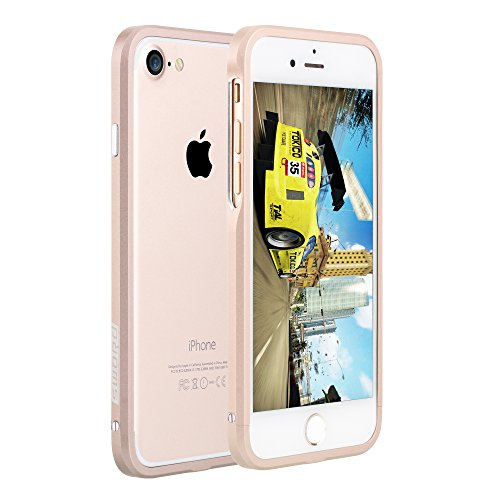 SWORD iPhone7/iPhone8兼用 アルミ製メタルバンパー (iphone7/iphone8, シャンパンゴールド)