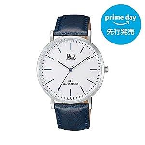 [シチズン キューアンドキュー]CITIZEN Q&Q 腕時計 アナログ 革ベルト 海外モデル ホワイト QZ02J301 メンズ [プライムデー先行発売]