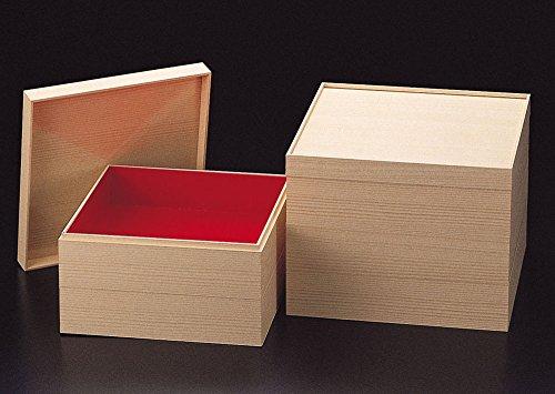 紙重箱・木目調 6.5寸 2段...
