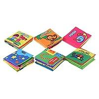 GoolRC Coolplay 布の絵本 ファブリック 洗濯できる 6 本入 毒性なし 安全安心 幼児知育 知育玩具