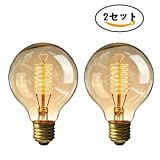 円形エジソン電球60W レフ電球 白熱電球 E26 110v 4個入 KINGSO エジソンバルブ フィラメント電球 ガラスライト G80-64アンカー ヴィンテージ ホーム照明器具装飾用 琥珀色