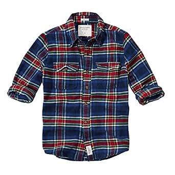 Abercrombie & Fitch/アバクロ / メンズ/長袖 / フランネルシャツ/ネイビー / チェック 【S】 【Allen Brook Flannel Shirt】 並行輸入品