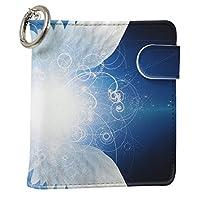 スマコレ IQOS専用 レザーケース 従来型/新型 2.4PLUS 専用 ケース カバー 合皮 カバー 収納 クール 羽根 はね 青 ブルー 007870