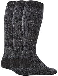 Workforce / ワークフォース - ブーツソックス メンズ 超ロング ひざ丈でウールたっぷり 暖かいニットの厚手ソックス 3足入り