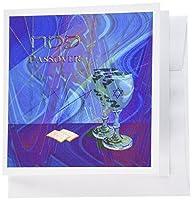 ビバリーターナーJewish Holidayデザイン–Passover、カップとMatzahクラッカー–グリーティングカード Set of 12 Greeting Cards