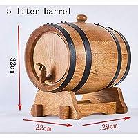 LiuRuiXinShop 自家製ワインに適したオーク材の樽、3リットル、5リットルの木製の樽は、ワイン愛好家にとって理想的です。 2色が選べます (色 : D)