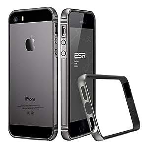 iPhone5s ケース スリム、ESR iPhone SE ケース iPhone5s メタル フレーム 軽量アルミ 削り出し iPhone SE カバー iPhone5s カバー フルエンシアシリーズ(グレー)