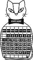 azi-azi インテリア 万年カレンダー ねこ AZ-935