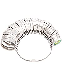 LUNA リングゲージ 指輪サイズ 測れる 1号~30号対応 全国標準規格準拠 シルバー磨きクロス付き