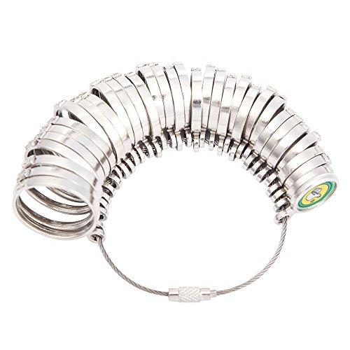 LUNA リングゲージ 指輪サイズ 測れる 1号~28号対応 全国標準規格準拠 シルバー磨きクロス付き
