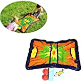 スプラッシュプレイマット42.5×29インチ屋外ウォータープレイスプリンクラーパッド夏のお楽しみ裏庭ビーチプール水泳プレイ幼児用幼児と子供