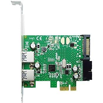 エアリア Over Fender R PCI Express x1 接続 Renesasチップ搭載 USB3.0 ボード 外部2ポート 内部19ピン ロープロファイル対応 SD-PEU3R-2E2IL