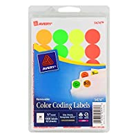 AVE05474 - Avery Print or Write Round Color Coding Label [並行輸入品]