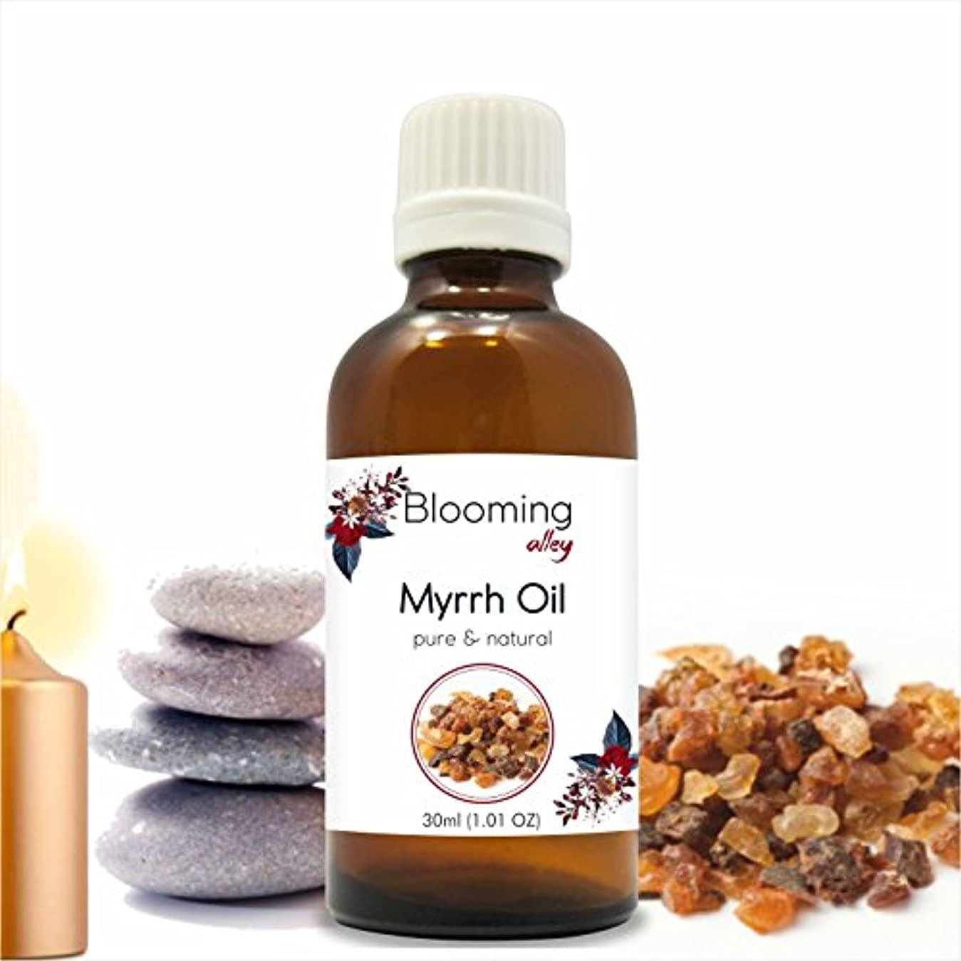 瀬戸際呼吸する探すMyrrh Oil (Commiphora Myrrha) Essential Oil 30 ml or 1.0 Fl Oz by Blooming Alley