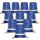 ドローストリングバックパックバッグ反射10パック、プロモーションスポーツジム袋Cinch Bag (ロイヤルブルー、ブラック、レッド、グリーン、迷彩)