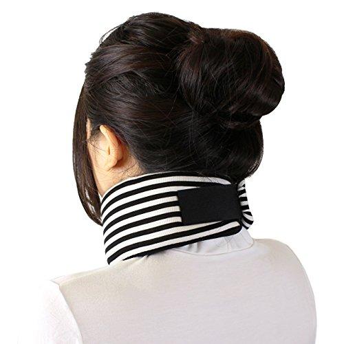 (アクアランド) AQUALAND 首サポーター ソフトタイプ 頚椎カラー 首の痛み 肩こりに 首枕 (ボーダー柄)