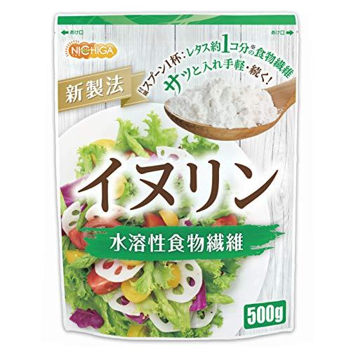 イヌリン 500g 水溶性食物繊維【スプーン付】 NICHIGA(ニチガ)