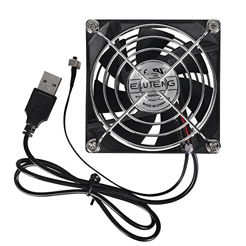 ELUTENG USB FAN 8cm 冷却ファン 風量調節...