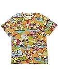(ヒステリックミニ) Hysteric Mini WOODLAND COMIC CAMOUFLAGE総柄 半袖Tシャツ 100cm POPCAMO