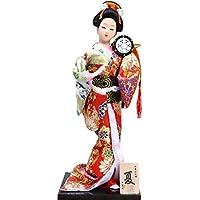 和風の美しい着物芸者/舞妓人形/ギフト/ジュエリー-A2
