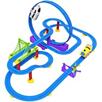 baynne子パラダイストラックトイDIY 3d Electricトラックwithライト教育玩具