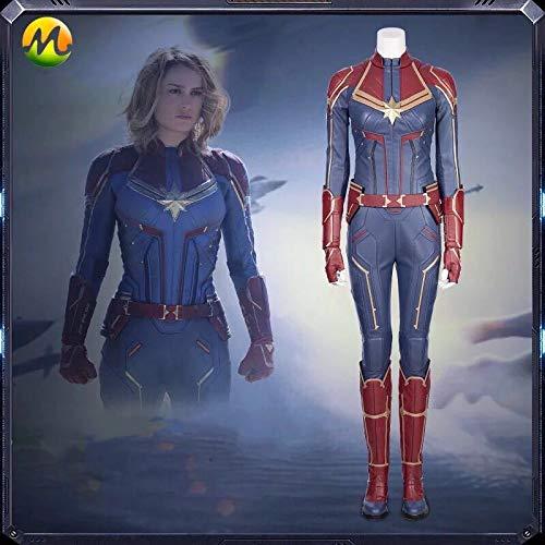 高級品 COSPLAY キャプテン・マーベル 映画 キャロル・ダンバース Captain Marvel Carol Danvers コスプレ衣装 変装 ハロウィン靴別売り