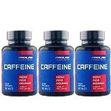 【3個セット】カフェイン 200mg 100粒[海外直送品]
