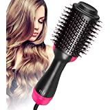 Meraif One Step Hair Dryer and Volumizer, AU Plug Oval Blower Hair Dryer Salon Hot Air Paddle Styling Brush Negative Ion Generator Hair Straightener Curler Comb for All Hair Types