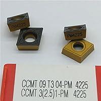 GBJ 10pcs PM4225 CCMT09T304 PM4225 CCMT3(2.5)1 CarbideInsert